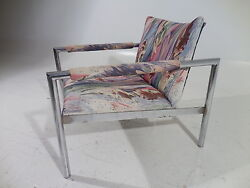60's Mid Century Modern BaughmanProbberRizzo Style Chrome Lounge Chair