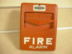Used Faraday Pull Down Fire Alarm Box Novelty for Man Cave She Shed Home Safety!