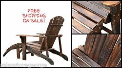 Patio furniture veneer wooden porch lawn chair and ottoman deck