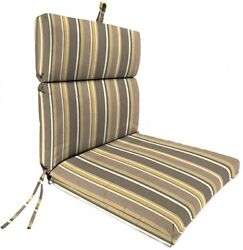 Jordan Manufacturing Outdoor Patio Replacement Chair Cushion Brady Stripe Putty
