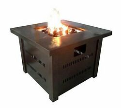 Fire Pit Table Outdoor Deck Patio LP Propane Gas Place Heater Backyard Furniture