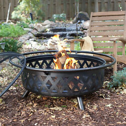 Red Ember Durango Extra Large 34 in. Bronze Fire Pit Outdoor Fall Fun BBQ NEW
