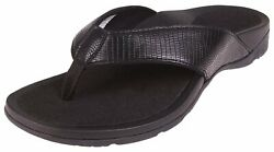 Comforthotics Womens Amanda Sandal Comfort Black Flip Flop Orthotic Arch Support $24.99