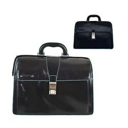 Doctor bag Piquadro genuine leather online Blue Square organized CA2007B2