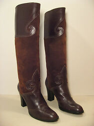 Rare Vintage 1970s YSL Yves Saint Laurent Boots  - Size 8 12 AA or 38 Euro