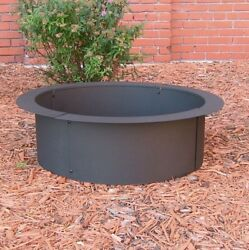 Fire Pit Ring In Ground Rim Outdoor Campfire Round Wood Burning 27