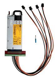 HP 750W Power Supply PSU + 4 PCI-E 14AWG 94% Platinum Kit for Antminer S3 S1 S5