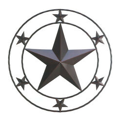 Country Cowboy Western Lone Star Rustic Hanging Metal Wall Decor For Home Ranch