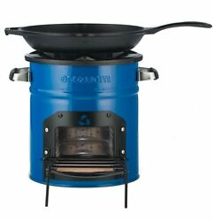 Classic Rocket Stove Freestanding Patio Outdoor Cooking Wood Biomass Charcoal