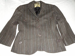 MAX STUDIO.com Easton Neston Special Ed  WOMENS WOOL browngray  Stripe BLAZER 4