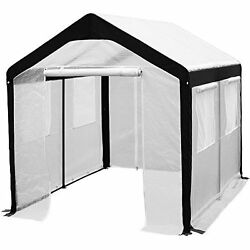 Walk In Greenhouse Fully Enclosed Portable Lightweight Windows 8 x 10-Feet Large