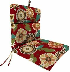 Jordan Manufacturing Outdoor Patio Replacement Chair Cushion Annie Cherry