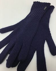 Burberry Cashmere Blend OS Long Purple Knit Winter Gloves Msrp $195
