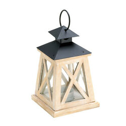Wood X Lantern Garden Outdoor Porch Patio Decoration Lighting Candle Table Yard