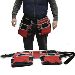 WheelsNBits Carpenters Builder Plumber Tool Belt Leather Type Strap Nylon Pocket