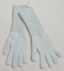 J CREW Collection CASHMERE LONG GLOVES Heather Grey Nickel NEW NWT XS S M L XL