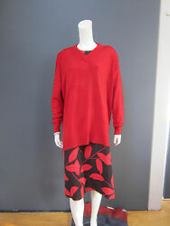 ALICE MARIA SARTI cashmere &  wool sweater NEW never used  size Small red