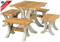 AnySize Garden Patio Table Furniture Yard Deck Wood Wooden Home Outdoor Sand