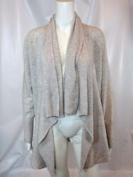 NORDSTROM Collection Gray Cashmere Open Front Cardigan Sz M