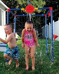 Buckets Of Fun 6 in 1 Backyard Water Park Splash Pad Sand Table Playground