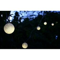 Solar Luminous Glow Light String for Porch Deck Pool Patio - Set of 12
