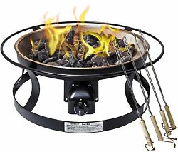 Camp Chef Del Rio Outdoor Patio Backyard Portable Steel Base Gas Fire Pit