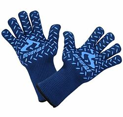 Pro Heat Resistant Gloves Oven BBQ Grilling Big Green Egg Fireplace and Welding