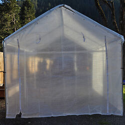 10 X 10 Valance Greenhouse Canopy Enclosure Kit Clear Fiber- With 10 X 10 Frame