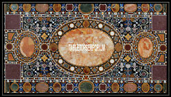 6'x3' Marble Dining Table Top Inlay Marquetry Gems Art Patio Mosaic Home Decor