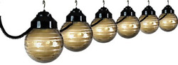 RV Deck Patio Light Black Bronze Set Globe String Coiled House Home Decor Awning