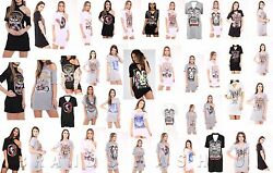 WOMENS CHOKER NECK T SHIRT LADIES AMERICAN ARIZONA EAGLE PRINTED LONG TOP DRESS