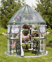 Portable Greenhouse  Kit Clear PVC FlowerHouse Conservatory 8 ft 8 in. diameter
