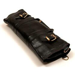 ladies Hand Crafted grain Leather Chef's Artist's knife roll tools MENS BAG EDH