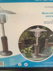 Garden Show Table Top PatioHeater 1200 Brumaire Lp Or Gas Required Anti Tilt Sw
