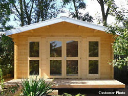 BZB Log Cabin Kit Pool or Garden House 14'4