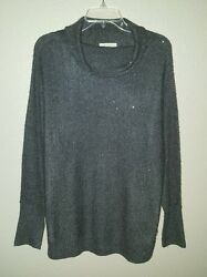 Nordstrom Collection Oversize Gray Sequin Cashmere Blend Sweater Size M