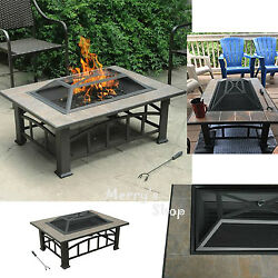 Outdoor Fire Pit Backyard Fireplace Wood Burning Patio Heater Firepit Deck