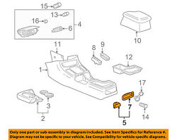 Saturn GM OEM 2000 LS1 Center Console-Ash Tray 24421511
