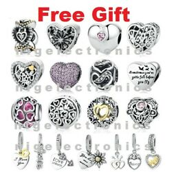 Genuine 925 Sterling Silver PAN Love & Romance Charms for Charm Bracelet CLEAR