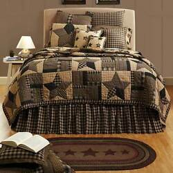 11-pc Bingham Star California King QUILTED Euro Super Set - VHC Brands COUNTRY