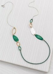 Silpada Fresco Necklace Sterling Silver Brass Green Patina NWT N3115 $24.00