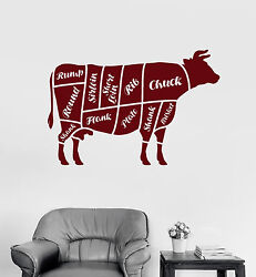 Vinyl Wall Decal Butcher Shop Beef Meat Kitchen Decor Stickers Mural ig4691 $69.99