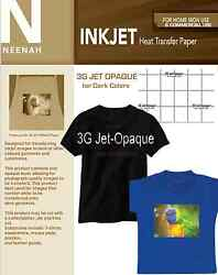 Neenah 3G Jet Opaque Heat Transfer Paper for Dark Colors 8.5x11 20 sheets $22.99