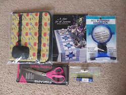 Lot of Sewing & Quilting Supplies  Accessories - Scissors Thimbles Etc.