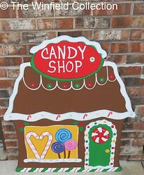 Christmas Gingerbread Candy Shop Wood Outdoor Yard Art Lawn Decoration