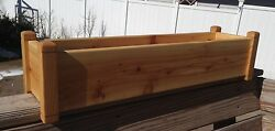 Cedar Flower Deck Rail Floor Planter 30