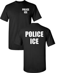 POLICE ICE U.S. Immigration and Customs Enforcement  Men's Tee Shirt 1627