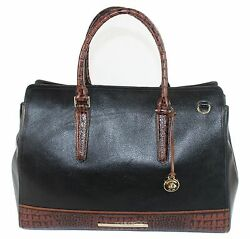 NWT $425 Brahmin FINLEY CARRYALL BLACK Tuscan Tri-Texture SOLD OUT ON LINE