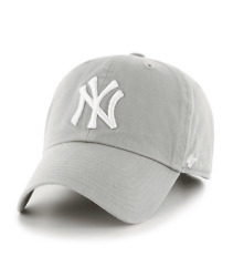 New York Yankees 47 Brand White Clean Up Adjustable Field Cotton Hat Cap MLB $24.99
