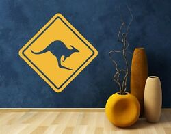 Kangaroo Crossing Warning Sign highest quality wall decal stickers $19.95